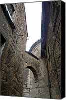 Middle Ages Digital Art Canvas Prints - Arches of Orvieto Italy Canvas Print by Mindy Newman