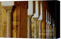 Great Mosque Canvas Prints - Arches of the Patio de los Naranjos in the Cathedral of Cordoba Canvas Print by Sami Sarkis