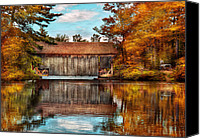 Autumn Scenes Canvas Prints - Architecture - Bridges - Worn out but still used Canvas Print by Mike Savad