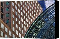 Nyc Photo Canvas Prints - Architecture Building Patterns Canvas Print by David Smith