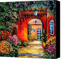 Beata Canvas Prints - Archway Garden Canvas Print by Beata Sasik