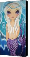 Fantasy Painting Canvas Prints - Arctic Mermaid Canvas Print by Jaz Higgins