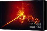 Natural Disasters Canvas Prints - Arenal Volcano Erupting Canvas Print by Gregory G. Dimijian