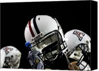 Team Canvas Prints - Arizona Football Helmets Canvas Print by University of Arizona