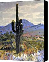 Cactus Canvas Prints - Arizona Icon Canvas Print by Donald Maier