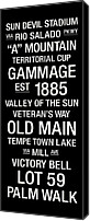 New York Signs Canvas Prints - Arizona State College Town Wall Art Canvas Print by Replay Photos