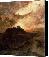 Thomas Moran Canvas Prints - Arizona Sunset Canvas Print by Thomas Moran