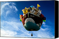 Balloon Festival Canvas Prints - Arky  Noahs Ark Canvas Print by Bob Orsillo
