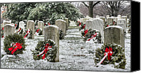 Veteran Canvas Prints - Arlington Christmas Canvas Print by JC Findley