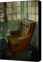 Winter Prints Canvas Prints - Arm Chair Canvas Print by Larysa Luciw