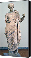 Greek Sculpture Canvas Prints - Armed Aphrodite Canvas Print by Andonis Katanos