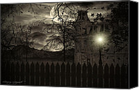 Haunted House Canvas Prints - Arrival Canvas Print by Lourry Legarde