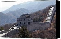 Watchtower Canvas Prints - Arrow Tower on the Great Wall Canvas Print by George Oze