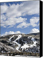 Mountain Trails Canvas Prints - Arrowhead Mountain at Beaver Creek Resort - Colorado Canvas Print by Brendan Reals