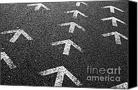 Guidance Canvas Prints - Arrows on Asphalt Canvas Print by Carlos Caetano