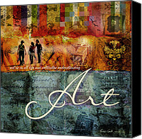Art Education Canvas Prints - Art Canvas Print by Evie Cook