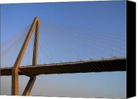 Ravenel Bridge Canvas Prints - Arther Ravanel Jr. Bridge Canvas Print by Dustin K Ryan