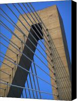 Ravenel Bridge Canvas Prints - Arthur Ravanel Bridge Canvas Print by Dustin K Ryan