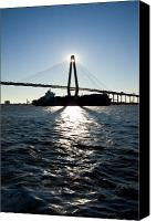 Ravenel Bridge Canvas Prints - Arthur Ravenel Bridge Shadows Canvas Print by Dustin K Ryan