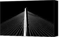 Ravenel Bridge Canvas Prints - Arthur Ravenel Jr. Bridge Lines Canvas Print by Dustin K Ryan