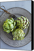 Scissors Canvas Prints - Artichokes Canvas Print by Ingwervanille