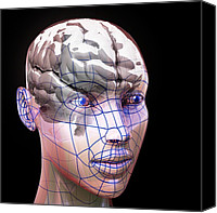 Artificial Intelligence Canvas Prints - Artificial Intelligence, Artwork Canvas Print by Laguna Design