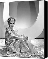 Gold Lame Canvas Prints - Artists And Models Abroad, Joan Bennett Canvas Print by Everett
