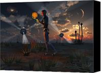 Extraterrestrial Canvas Prints - Artists Concept Of A Quest To Find New Canvas Print by Mark Stevenson