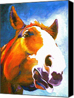 Large Format Horse Print Canvas Prints - As I Was Saying Canvas Print by Susan A Becker