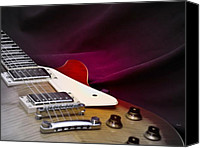 Epiphone Canvas Prints - As in Sound Body Canvas Print by Steven  Digman