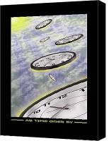 Ufo Canvas Prints - As Time Goes By Canvas Print by Mike McGlothlen