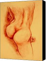 Female Nude Canvas Prints - Asana Nude Canvas Print by Dan Earle