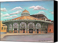 Melinda Saminski Canvas Prints - Asbury Park Carousel House Canvas Print by Melinda Saminski
