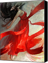 Dancer Art Canvas Prints - Ascension Canvas Print by Steve Goad