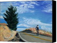 Road Painting Canvas Prints - Ascent Canvas Print by Colleen Proppe