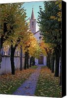 Autumn Foliage Canvas Prints - Ascona - Collegio Papio Canvas Print by Joana Kruse
