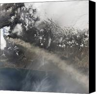 Billows Canvas Prints - Ash And Steam Continue Billowing Canvas Print by Stocktrek Images
