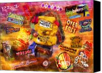 Marilyn Sholin Canvas Prints - Asheville Eats Canvas Print by Marilyn Sholin