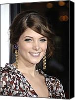 Dangly Earrings Canvas Prints - Ashley Greene At Arrivals For Premiere Canvas Print by Everett