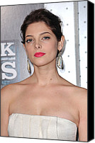 Dangly Earrings Canvas Prints - Ashley Greene At Arrivals For Sherlock Canvas Print by Everett