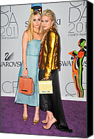 The 2011 Cfda Fashion Awards Canvas Prints - Ashley Olsen Wearing The Row, Mary-kate Canvas Print by Everett