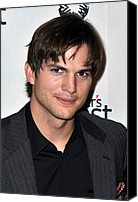 Oppression Canvas Prints - Ashton Kutcher At Arrivals For Half Canvas Print by Everett