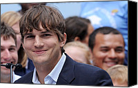 At The Press Conference Canvas Prints - Ashton Kutcher At The Press Conference Canvas Print by Everett