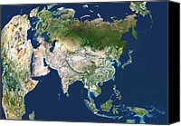 Tibetan Canvas Prints - Asia, Satellite Image Canvas Print by Planetobserver
