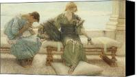 Toga Canvas Prints - Ask me no more....for at a touch I yield Canvas Print by Sir Lawrence Alma-Tadema
