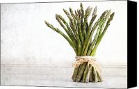 Vegetarian Canvas Prints - Asparagus vintage Canvas Print by Jane Rix