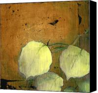Gold Foil Canvas Prints - Aspen Leaves Canvas Print by Patt Nicol