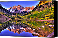 Snow Capped Canvas Prints - Aspen Wonder Canvas Print by Scott Mahon