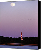 Assateague Canvas Prints - Assateague Lighthouse Canvas Print by Skip Willits