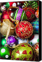 Xmas Canvas Prints - Assorted beautiful ornaments Canvas Print by Garry Gay